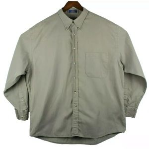 Pendleton Mens XL Gray Tan Long Sleeve Shirt